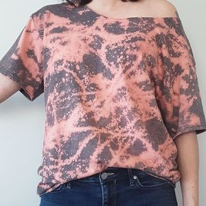 Custom Bleached Distressed Cotton T Shirt